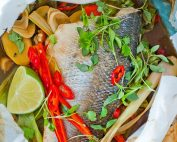 Thai Style Sea Bass is a Light And Healthy Fish dish