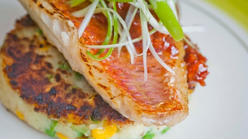 Pan fried red mullet fillet walter purkis and sons for Mullet fish recipe