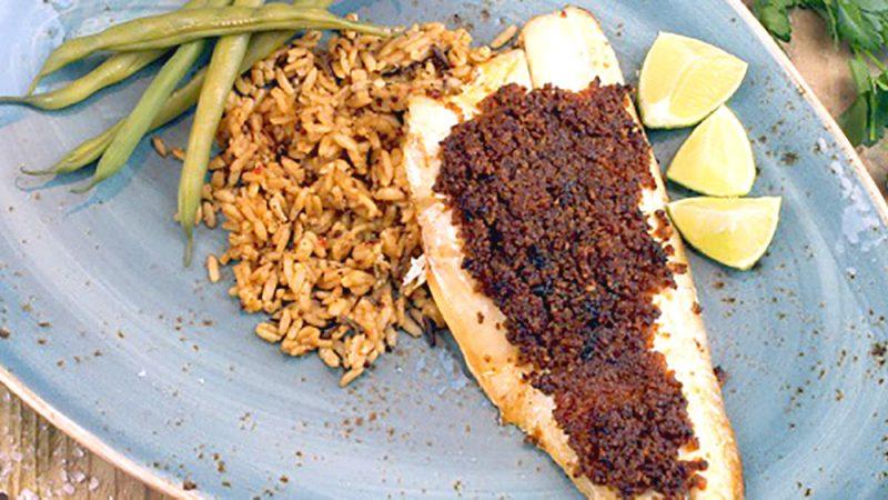 Sea bass and chorizo recipe
