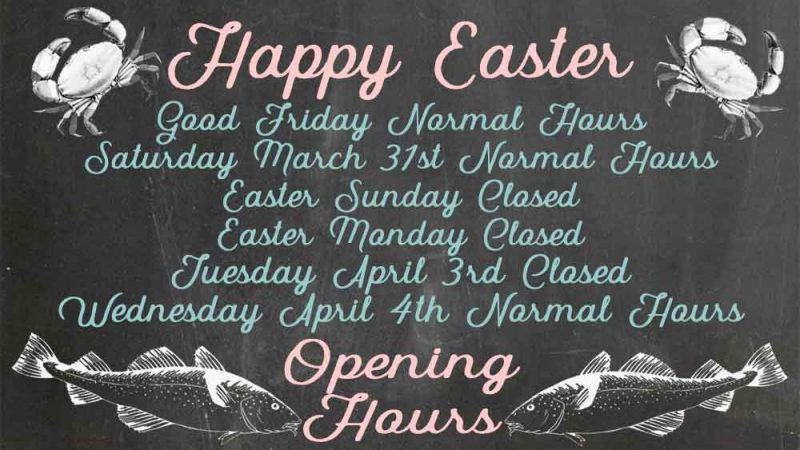 Easter 2018 shop hours