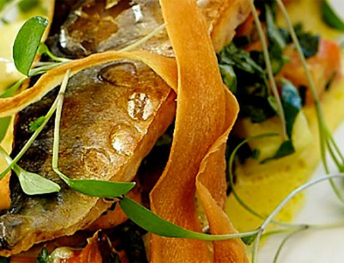 Grilled Mackerel With Curried Mussels