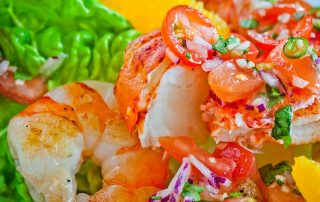 prawn and lobster salad
