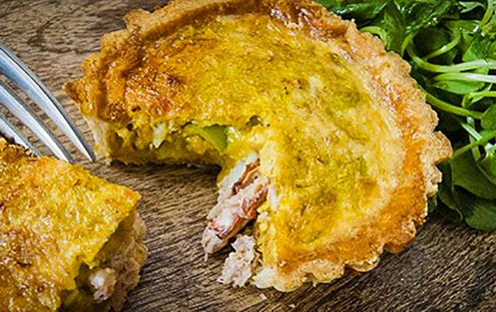curry crab tart