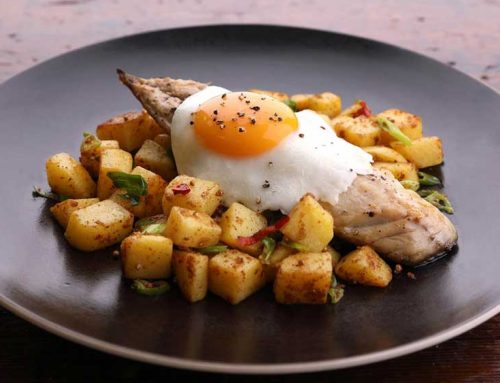 Mackerel Fillets With Spicy Potatoes