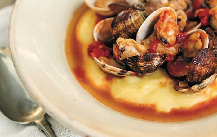 clam stew with polenta