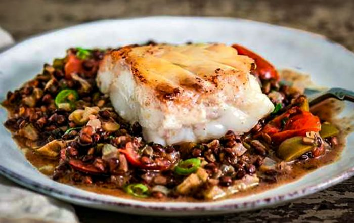 Cod and Lentils