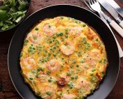 tasty prawn frittata with chorizo