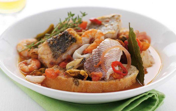 Cacciucco an Italian Style Fish Stew