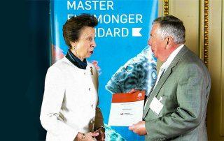 master fishmonger award presentation with princess anne