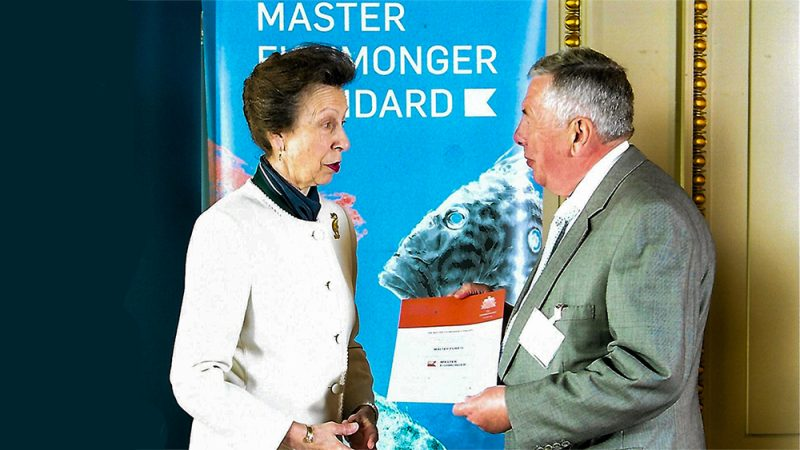 master fishmonger award presentation with princess anne