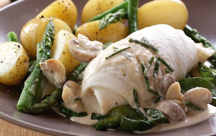 Poached Plaice Fillets