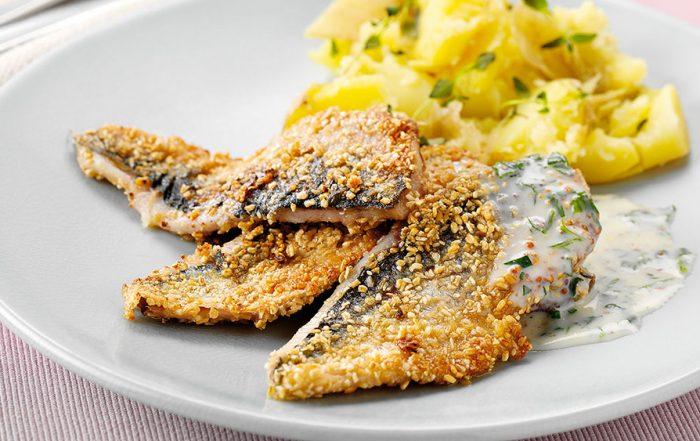 oatmeal crust herring