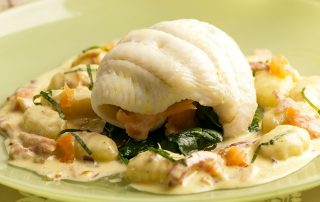 stuffed lemon sole