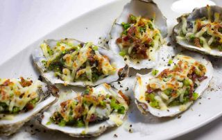 how to cook oysters au gratin
