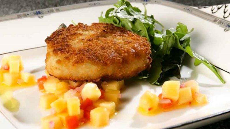 Megrim Fish Cake on plate