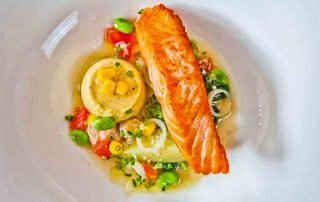 Salmon With Sweetcorn