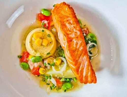 Salmon With Sweetcorn Savory Custard
